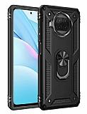Eiroo Magnet Ring Xiaomi Mi 10T Lite 5G Ultra Koruma Siyah Kılıf