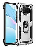 Eiroo Magnet Ring Xiaomi Mi 10T Lite 5G Ultra Koruma Gri Kılıf