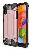 Tough Power Samsung Galaxy A01 Ultra Koruma Rose Gold Kılıf