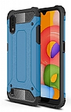 Tough Power Samsung Galaxy A01 Ultra Koruma Mavi Kılıf