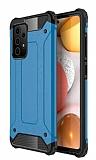 Tough Power Samsung Galaxy A72 Ultra Koruma Mavi Kılıf