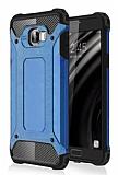 Tough Power Samsung Galaxy C7 SM-C7000 Ultra Koruma Mavi Kılıf