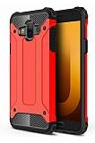 Tough Power Samsung Galaxy J7 Duo Ultra Koruma Kırmızı Kılıf