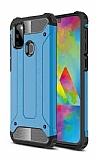 Tough Power Samsung Galaxy M21 Ultra Koruma Mavi Kılıf