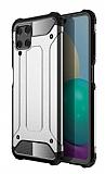 Tough Power Samsung Galaxy M32 Ultra Koruma Silver Kılıf