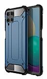 Tough Power Samsung Galaxy M32 Ultra Koruma Lacivert Kılıf