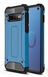 Tough Power Samsung Galaxy S10 Plus Ultra Koruma Mavi Kılıf