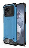 Tough Power Xiaomi Mi 11 Ultra Süper Koruma Mavi Kılıf