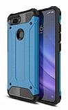 Tough Power Xiaomi Mi 8 Lite Ultra Koruma Mavi Kılıf