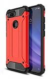 Tough Power Xiaomi Mi 8 Lite Ultra Koruma Kırmızı Kılıf