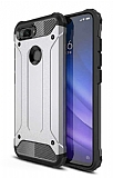 Tough Power Xiaomi Mi 8 Lite Ultra Koruma Silver Kılıf