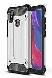 Tough Power Xiaomi Mi 8 SE Ultra Koruma Silver Kılıf