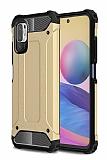 Tough Power Xiaomi Redmi Note 10 5G Ultra Koruma Gold Kılıf