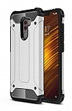 Tough Power Xiaomi Pocophone F1 Ultra Koruma Silver Kılıf