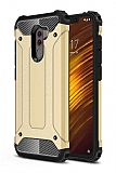 Tough Power Xiaomi Pocophone F1 Ultra Koruma Gold Kılıf