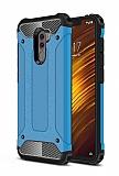 Tough Power Xiaomi Pocophone F1 Ultra Koruma Mavi Kılıf
