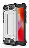 Tough Power Xiaomi Redmi 6A Ultra Koruma Silver Kılıf