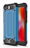 Tough Power Xiaomi Redmi 6A Ultra Koruma Mavi Kılıf