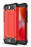 Tough Power Xiaomi Redmi 6A Ultra Koruma Kırmızı Kılıf
