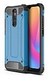 Tough Power Xiaomi Redmi 8 Ultra Koruma Mavi Kılıf