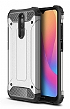 Tough Power Xiaomi Redmi 8 Ultra Koruma Silver Kılıf