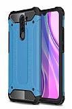 Tough Power Xiaomi Redmi 9 Ultra Koruma Mavi Kılıf