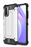 Tough Power Xiaomi Redmi 9T Ultra Koruma Silver Kılıf