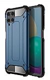 Tough Power Samsung Galaxy A22 4G Ultra Koruma Mavi Kılıf