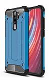 Tough Power Xiaomi Redmi Note 8 Pro Ultra Koruma Mavi Kılıf