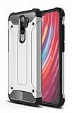 Tough Power Xiaomi Redmi Note 8 Pro Ultra Koruma Silver Kılıf