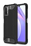 Tough Power Xiaomi Redmi Note 9 4G Ultra Koruma Siyah Kılıf