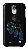 Trexta Samsung i9500 Galaxy S4 Tavuz Ku�u Ta�l� Siyah K�l�f