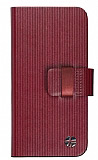 Trexta iPhone 5 / 5S Rotating Folio Deri C�zdan Bordo K�l�f