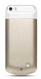 TTEC Caffeine Go iPhone SE / 5 / 5S Bataryal� Gold K�l�f