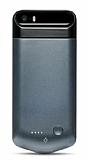 TTEC Caffeine Go iPhone SE / 5 / 5S Bataryal� Dark Silver K�l�f