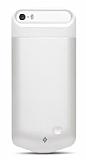 TTEC Caffeine Go iPhone SE / 5 / 5S Bataryal� Beyaz K�l�f
