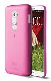 TTEC LG G2 Ultra İnce Pembe Rubber Kılıf