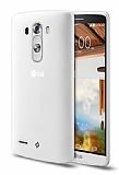 TTEC LG G3 Ultra İnce Şeffaf Beyaz Rubber Kılıf