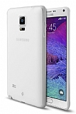 TTEC Samsung Galaxy Note 4 Ultra �nce �effaf Beyaz Rubber K�l�f