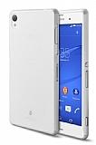 TTEC Sony Xperia Z3 Ultra �nce �effaf Beyaz Rubber K�l�f