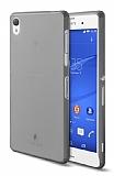 TTEC Sony Xperia Z3 Ultra �nce Dark Silver Rubber K�l�f