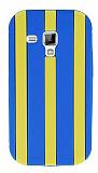 Samsung S7562 / S7560 / S7580 Mavi �izgili Silikon K�l�f