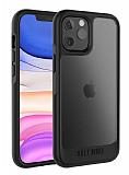 Ugly Rubber Gmodel iPhone 12 Pro 6.1 inç Siyah Silikon Kılıf