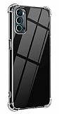 Dafoni Hummer Oppo Reno4 Pro Ultra Koruma Silikon Kenarlı Şeffaf Kılıf