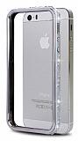 Uniico iPhone 5 / 5S Ta�l� Bumper �er�eve Silver K�l�f
