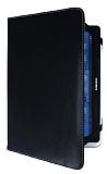 Universal 10.1 in� 360 Derece D�ner Standl� Tablet Siyah Deri K�l�f