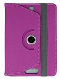 Universal 10 inch 360 Derece Döner Standlı Tablet Mor Deri Kılıf