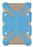 Universal 7 inç-8.9 inç Tablet Mavi Silikon Kılıf