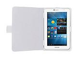 Universal 7 inç Tablet Beyaz Deri Kılıf