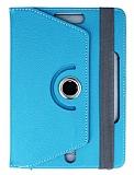 Universal 8 inch 360 Derece Döner Standlı Mavi Deri Kılıf